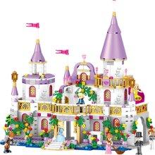 儿童拼装积木女孩玩具温莎城堡公主梦影仙境女孩益智拼插积木模型DIY玩具TTL1106