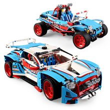 儿童拼装积木拉力赛车男孩拼装积木玩具科技机械组2合1益智玩具JHG3377
