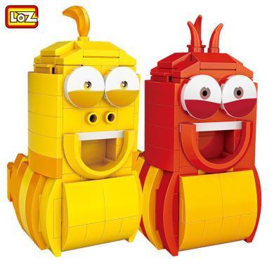 LOZ/俐智小顆粒積木 迷你益智拼裝玩具6-8-10-12歲男孩女孩 小紅蟲 小黃蟲