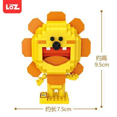 LOZ俐智X同道大叔獅子座微顆粒拼插積木創意公仔星座手辦鉆石積木