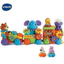 伟易达GearZooz动物小火车齿轮拼装积木儿童益智玩具男女孩1-2岁