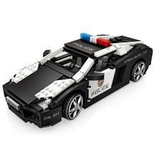 LOZ/俐智小颗粒拼插积木警车模型儿童益智玩具6-8-10周岁迷你颗粒