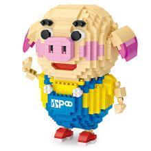 LOZ/俐智微钻石小颗?;?猪小屁 动漫同款造型公仔小积木