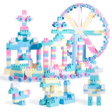樂心多 兒童拼插積木diy玩具 早教益智拼裝大顆粒積木散件收納盒套裝 jmpc18