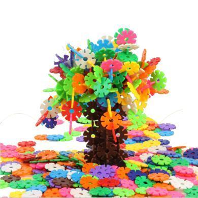 樂心多 早教插片雪花片積木箱裝塑料拼插拼裝寶寶幼兒童益智玩具 jmpc09