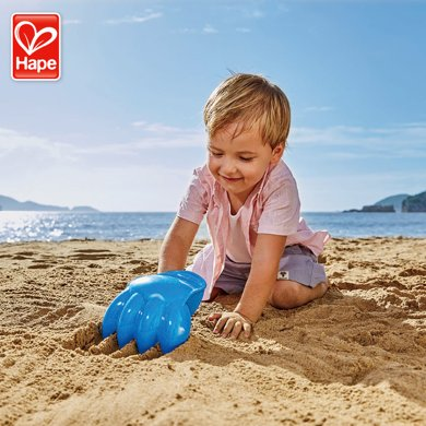 Hape沙灘玩具 挖沙手 玩沙挖沙工具特大號兒童戲水玩具