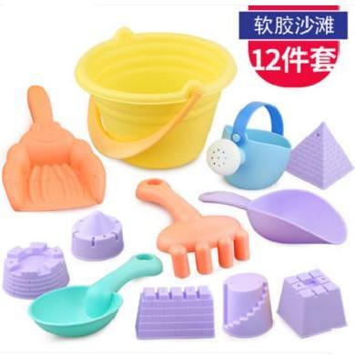 贝恩施儿童沙滩玩具套?#23433;?#23376; 夏季戏水玩具桶 沙滩玩具套装决明子