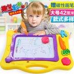 儿童黑板婴幼儿益智玩具1-6岁益智大号写字板磁性彩色画板YZQD1688-43