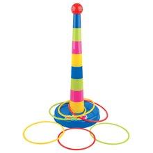 婴侍卫婴幼儿套圈玩具宝宝投掷运动套彩虹欢乐圈圈亲子互动游戏早教益智玩具多色随机YSWC210