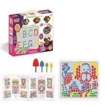 邦迪 JYX-006 环保无害 智力美术魔法拼盘 儿童早教益智塑料拼图 智力宝宝拼插玩具