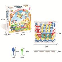 邦迪 2015 JYX-008新款智力美术魔法拼盘儿童早教益智塑料拼图3岁智力宝宝拼插玩具