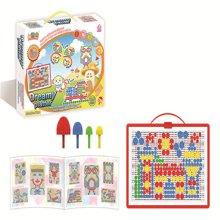 邦迪 JYX-007 环保无害 智力美术魔法拼盘 儿童早教益智塑料拼图 智力宝宝拼插玩具