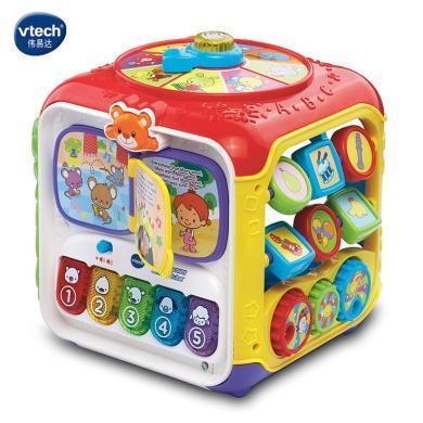 VTech伟易达趣味智立方 游戏桌六面盒宝宝学?#30333;?#30410;智早教玩具台