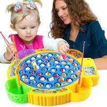 兒童釣魚玩具 電動旋轉釣魚套裝 親子互動寶寶益智玩具YZQD20222