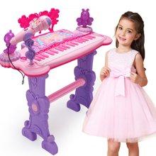 儿童音乐琴宝宝多功能钢琴花仙子电子琴25键1-3岁女孩早教益智音乐玩具琴YZQD8801