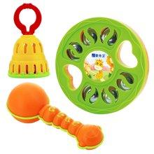 婴侍卫宝宝乐器三件套婴幼儿乐器玩具1-3岁幼儿园早教教具套装颜色随机YSWC228