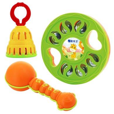 嬰侍衛寶寶樂器三件套嬰幼兒樂器玩具1-3歲幼兒園早教教具套裝顏色隨機YSWC228