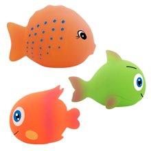 婴侍卫新品海洋动物乐园洗澡玩具捏捏叫 儿童沐浴洗澡玩具款式随机YSWC236
