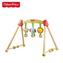 美国FisherPrice费雪牌小动物健身架 婴儿健身架摇铃早教益智玩具