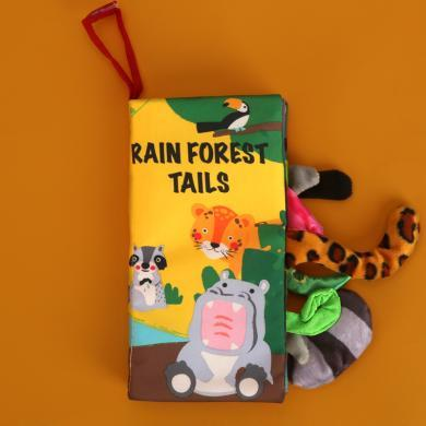 貝恩施寶寶布書早教 嬰兒書籍6-12個月0-3歲兒童撕不爛可咬布玩具