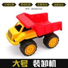 耐摔大号工程车挖掘机模型沙滩儿童节男孩玩具仿真惯性挖土机车YZQD881