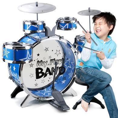 儿童玩具爵士?#22902;?#35013;?#30424;?#22823;号架子鼓6鼓3嚓乐器玩具YZQD-1688-46-6
