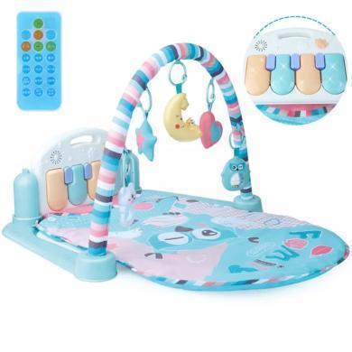 貝恩施嬰兒腳踏鋼琴健身架器幼兒寶寶嬰兒玩具毯0-1歲男女孩3個月