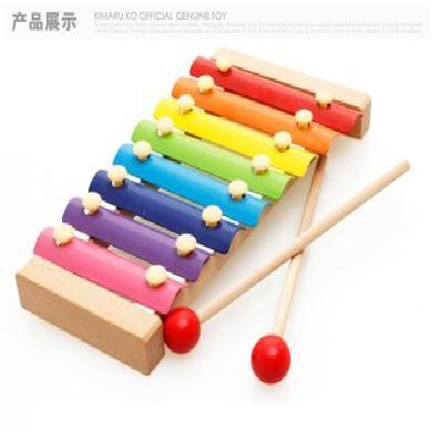 乐心多 手敲琴童木质八音敲琴宝宝敲打木琴木制早教敲击乐器玩具 yqxg25