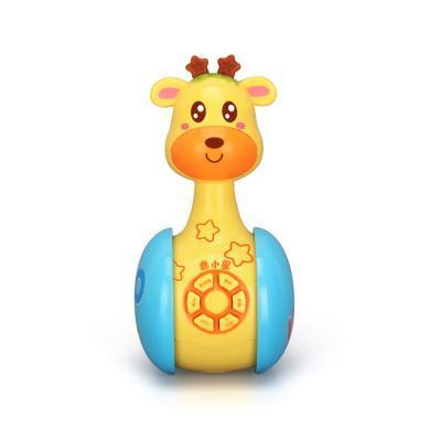 源乐堡 奔跑吧不倒翁早教音乐故事机0-1岁3-6-12个月婴儿宝宝安抚玩具