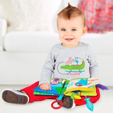 費雪Fisher Price費雪搖鈴布球新生兒布藝玩具球嬰幼兒寶寶手抓球F827
