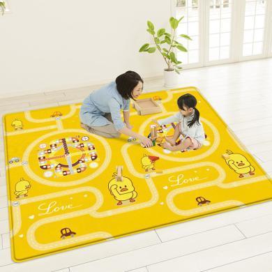 華嬰卡通鴨寶寶爬爬行墊1cm 嬰兒童飛行棋地毯游戲墊親子互動玩具SXR-M6 M7