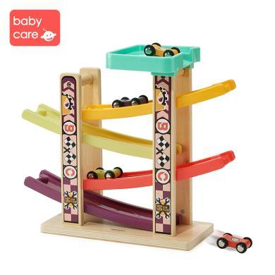 babycare趣味轨道滑翔车宝宝益智早教男孩儿童四轨滑行玩具车7226