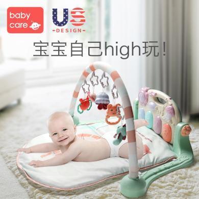 babycare嬰兒音樂健身架 寶寶玩具0-3歲早教游戲毯益智玩具健身鋼琴架腳踏琴 5096
