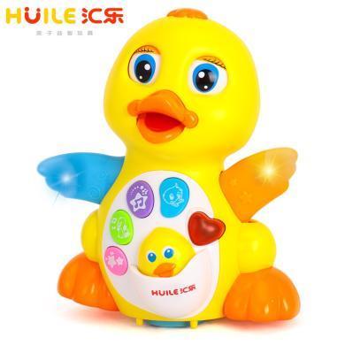 匯樂玩具808搖擺鴨子鵝幼兒音樂電動玩具益智會跑會跳舞的大黃鴨