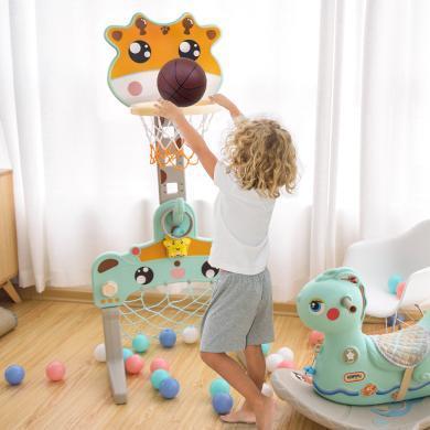 樂心多 新品兒童可升降籃球架足球門3合1運動玩具 jswj9