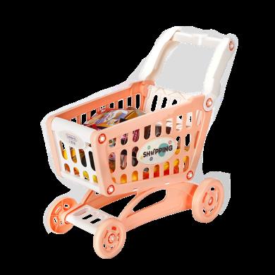貝恩施兒童女孩玩具購物車過家家寶寶迷你廚房套裝超市推車3-6歲