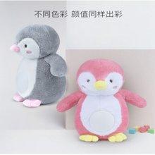 贝恩施声光睡眠安抚小企鹅 新生婴儿海马胎教玩偶音乐毛绒玩具