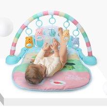 贝恩施婴儿脚踏钢琴健身架玩具 新生儿宝宝音乐游戏毯
