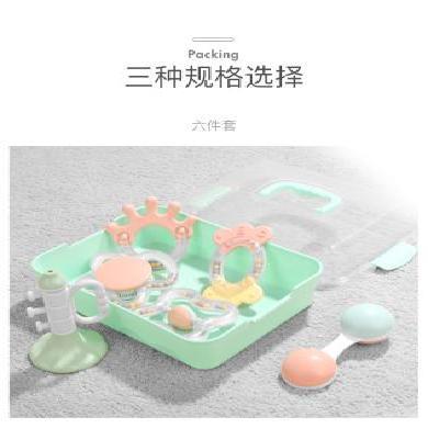 貝恩施嬰兒手搖鈴0-1歲 新生兒寶寶早教益智牙膠玩具0-3-6-12個月