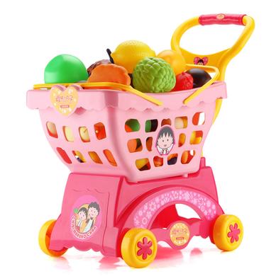 益米仿真儿童过家家手推车宝宝玩具?#34892;?#22899;孩超市购物车1-3-6岁
