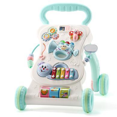 多功能宝宝学步车防侧翻手推车婴儿童音乐玩6/7-18月可调速助步车YZQD406