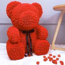 创意情人节礼物玫瑰花熊毛绒玩具娃娃40CM生日求婚送女朋友女生爱人YYT018