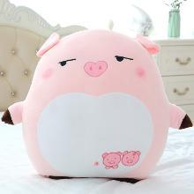 创意情人节礼物猪年吉祥物表情猪公仔毛绒玩具粉色小猪靠枕送女生YYT009