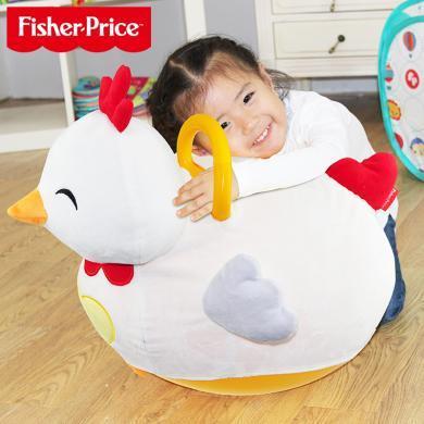 美国Fisher-Price费雪小鸡跳跳乐F0303羊角球跳跳球加厚秋冬宝宝健身球儿童蹦蹦弹跳球小鸡毛绒玩具