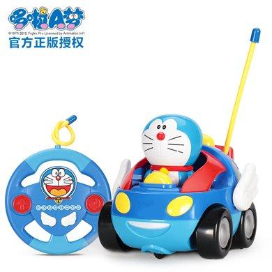 哆啦A梦手办遥控?#30340;?#25684;电动发条玩具遥控车儿童玩具车 可充电