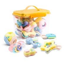 贝恩施手摇铃婴儿玩具 0-1岁婴幼儿宝宝益智牙胶玩具 可水煮牙胶0-3-6-12个月