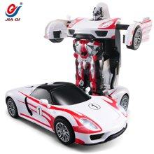 佳奇新品遥控极光战神一键自动演示变形机器人汽车人玩具67292BLX