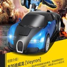 佳奇漂移战神威龙一键变形机器人遥控车带音乐灯光充电玩具 颜色随机发货66392BLX