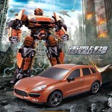 佳奇雷霆战神变形机器人遥控车带声光 电动玩具车66492BLX