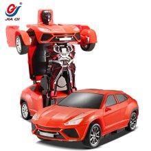 佳奇SUV款幻影勇者一键变形机器人遥控车带声光玩具 颜色随机发货65279BLX